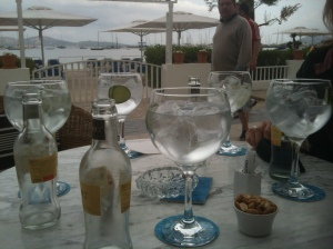 A new discovery - the dangerously addictive Hendricks g & t.