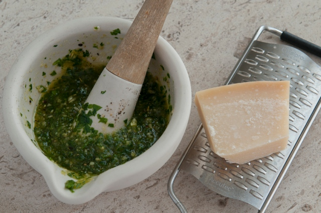 Parmesan and pine nut dressing