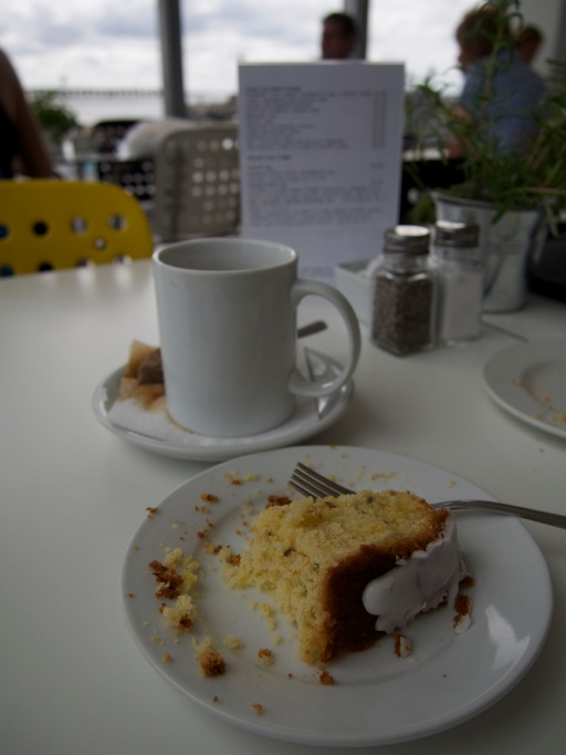 Lavender and orange cake and builder's tea