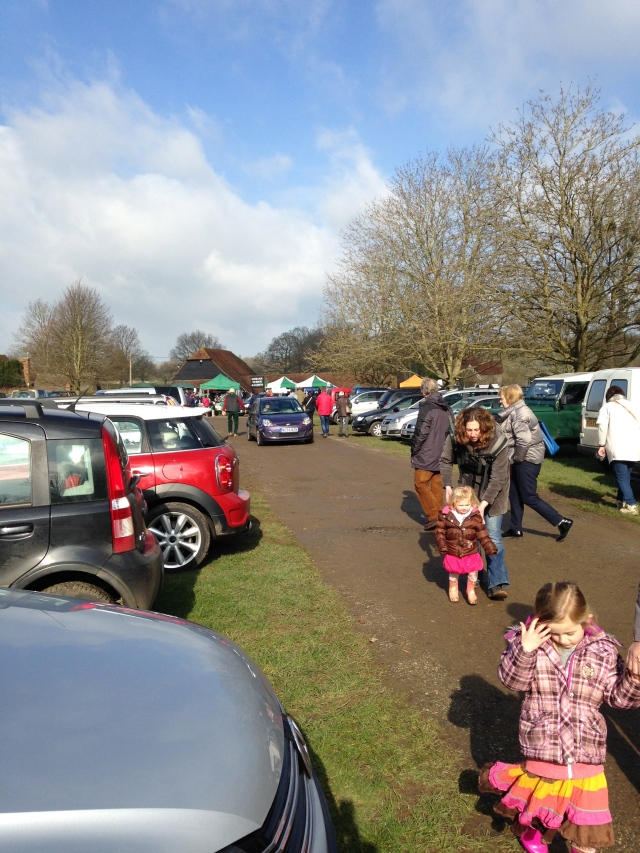 Penshurst market in the spring sunshine...