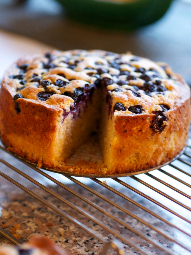 Lemon, blueberry and caraway cake