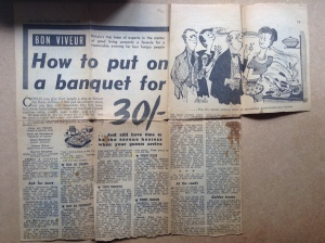 Snipped out from the Sunday Express March 1958