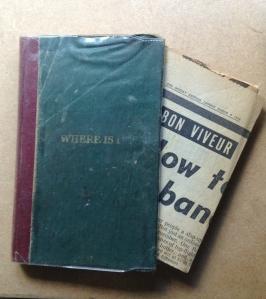 My mum's little recipe note book - late 1950s