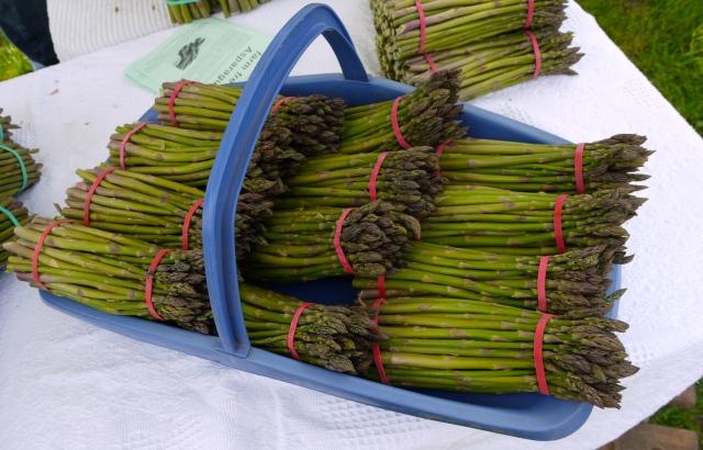 Wonderful local asparagus