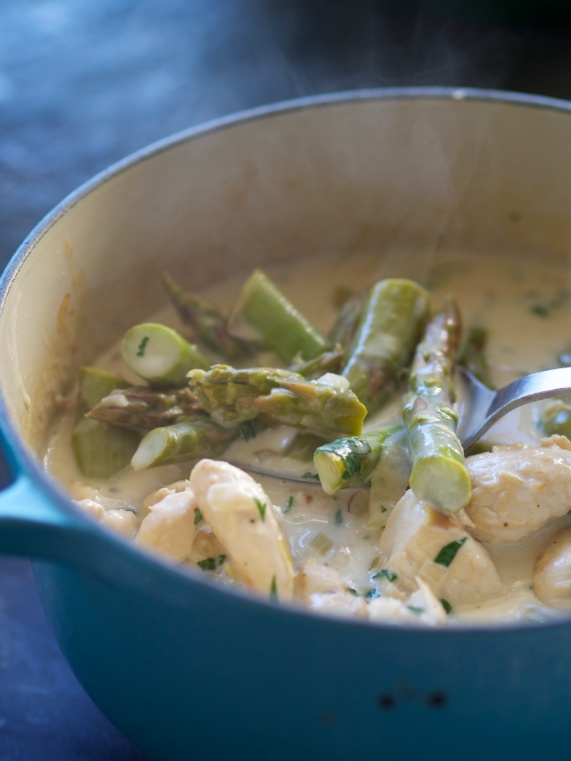 A creamy sauced chicken dish with lemon, white wine and cream...