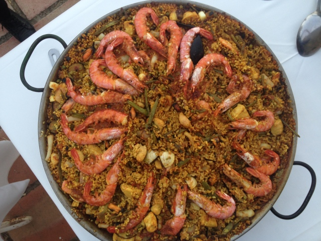 Courtesy of Marta, a really superb paella for our last night