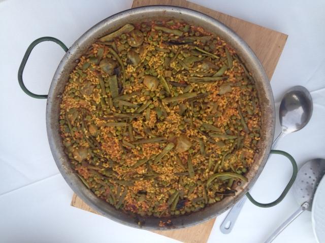 Paella vegetarian-style